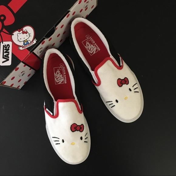 1095b72af Vans Shoes | Hello Kitty 40th Anniversary Limited Slipon | Poshmark